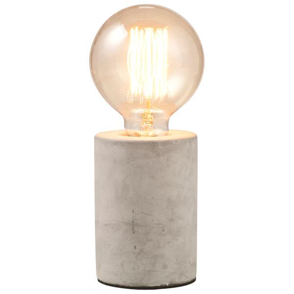 Concrete Tubular Table Lamp - Grey
