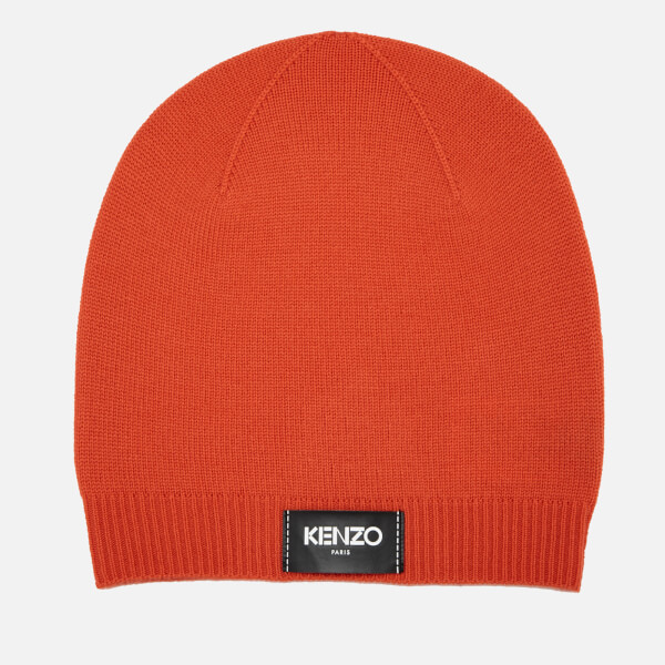 KENZO Women s Iconic Kenzo Label Beanie - Orange - Free UK Delivery over £50 7a25788beff