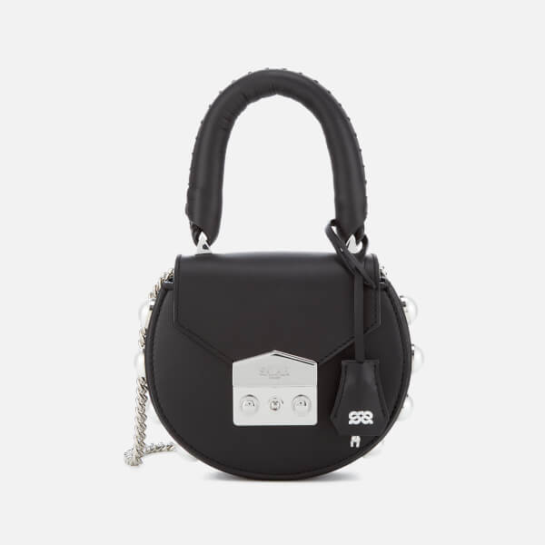 SALAR Women's Mimi Mini Pearl Bag - Black