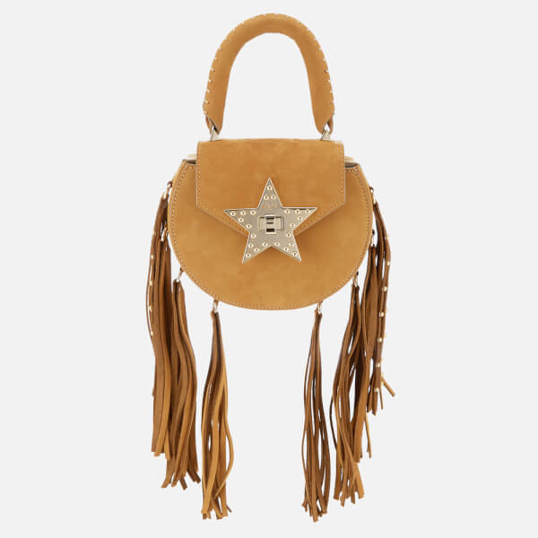 SALAR Women's Mimi Fringe Stud Bag - Tan