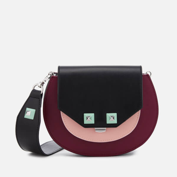SALAR Women's Mari Multi Bag - Black/Blush Pink/Blood Mint