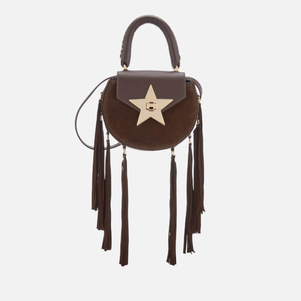 SALAR Women's Mimi Fringe Bag - Chocolate
