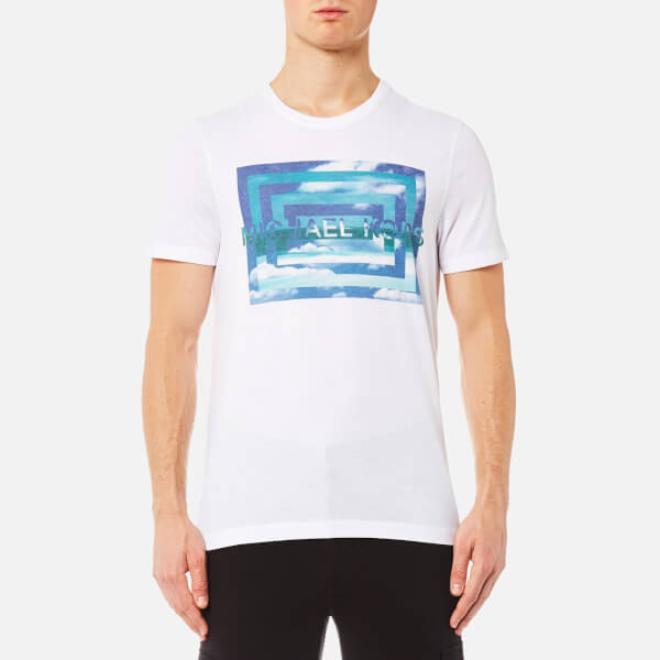 688995a18 Michael Kors Men's Vortex M2 Graphic T-Shirt - White - Free UK ...