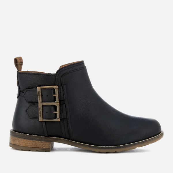 Barbour Women's Sarah Leather Low Buckle Ankle Boots - Black