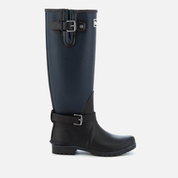 Barbour Women's Cleveland Adjustable Tall Wellies - Black/Navy