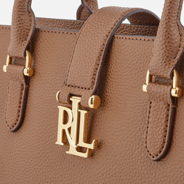 99bf4d29dad3 Lauren Ralph Lauren Women s Carrington Brigitte II Satchel - Field Brown   Image 4