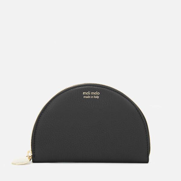meli melo Women's Half Moon Floater Wallet - Black