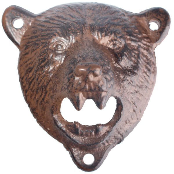 grizzly bear wall mounted bottle opener brown iwoot. Black Bedroom Furniture Sets. Home Design Ideas