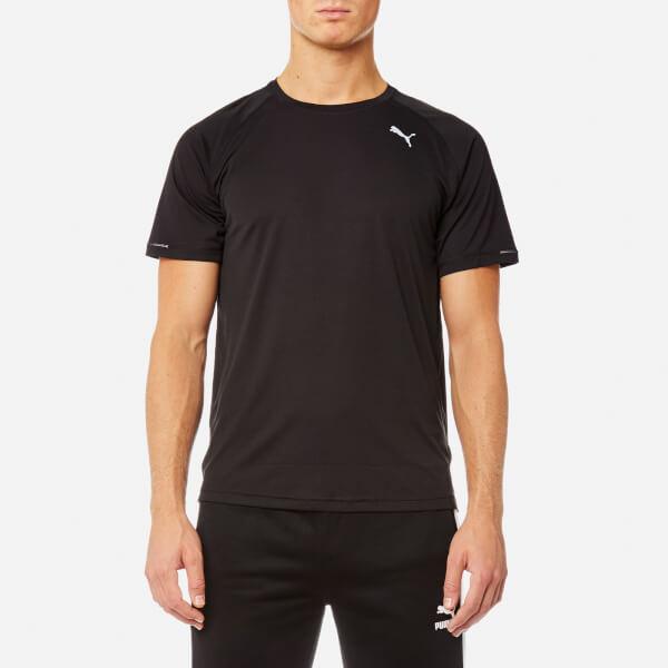 Puma Men's Core-Run Short Sleeve T-Shirt - Puma Black: Image 1