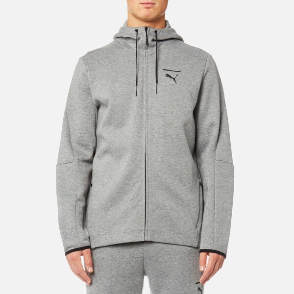 ac80841186 Puma Men s Evo Core Full Zip Hoody - Medium Grey Heather Mens ...