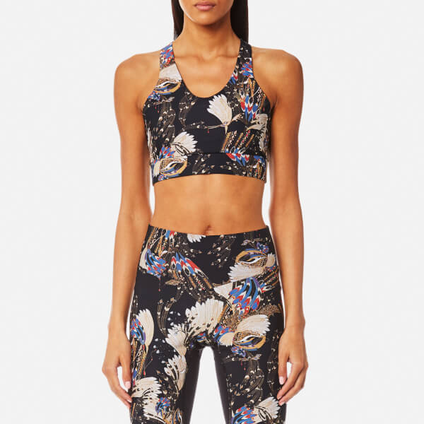 Cheap Marketable Erte Printed Stretch Sports Bra - Black Lucas Hugh Clearance Many Kinds Of rDtcE
