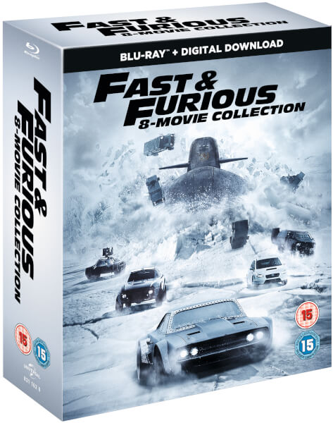 fast furious 8 film collection digital download blu ray. Black Bedroom Furniture Sets. Home Design Ideas