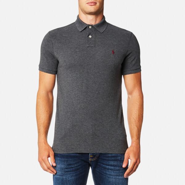 Polo Ralph Lauren Men's Custom Fit Mesh Polo Shirt - Charcoal: Image 1