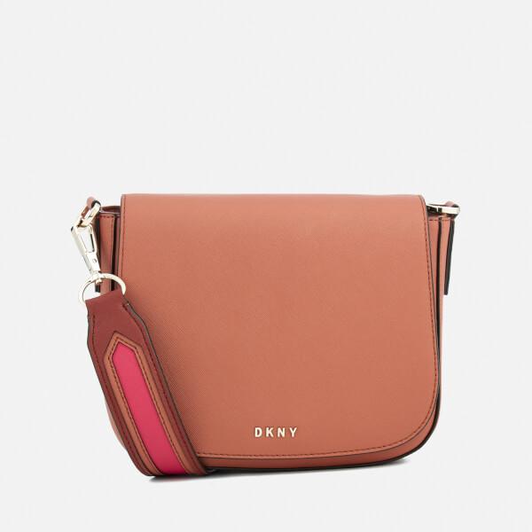 DKNY Women's Bryant Park New Medium Flap Cross Body Bag - Terracotta