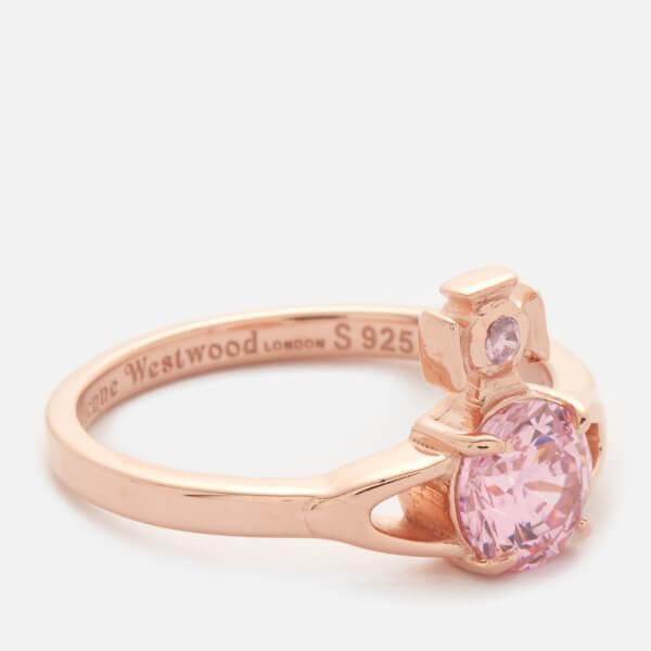 Vivienne Westwood Women's Reina Petite Ring - Pink Cubic Zirconia