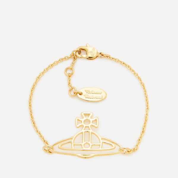 Vivienne Westwood Women's Thin Lines Flat Orb Bracelet - Gold