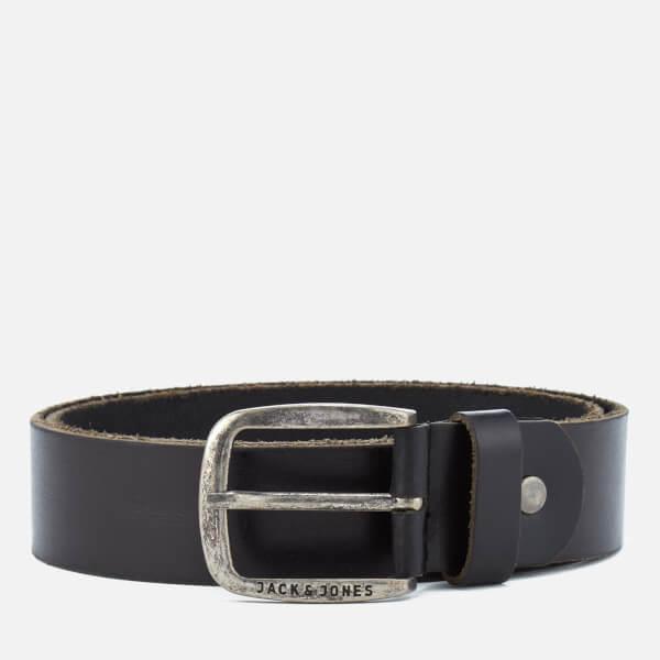 Jack & Jones Men's Paul Leather Belt - Black