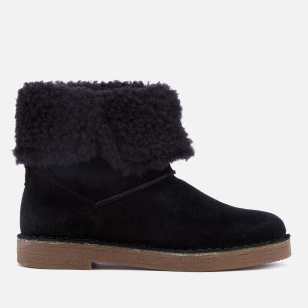Clarks Women's Drafty Haze Suede Boots - Black
