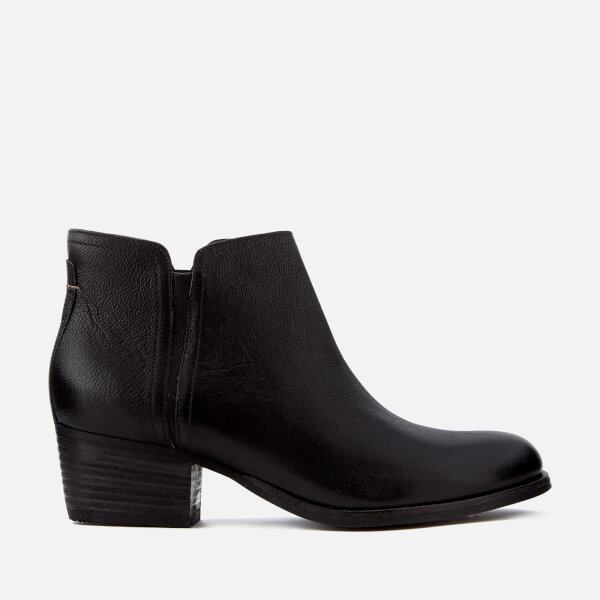 Clarks Women s Maypearl Ramie Leather Heeled Ankle Boots - Black  Image 1 6afc1572cdbb