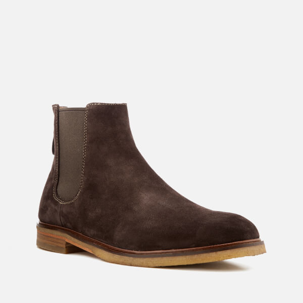 ca75dde5bda122 Clarks Men s Clarkdale Gobi Suede Chelsea Boots - Dark Brown  Image 2