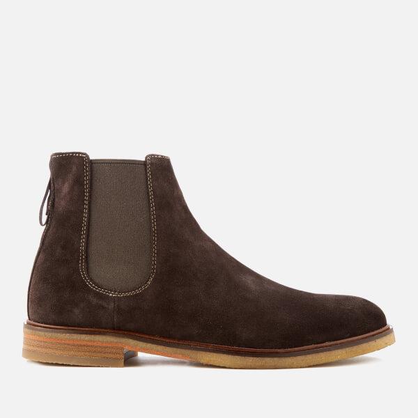0db4dbb9bb998f Clarks Men s Clarkdale Gobi Suede Chelsea Boots - Dark Brown