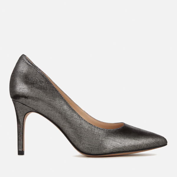 Clarks Women's Dinah Keer Metallic Court Shoes - Pewter