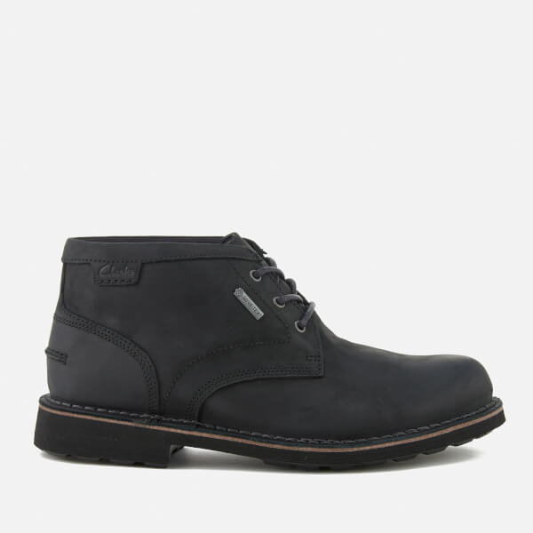 Clarks Men's Lawes Mid Gtx Leather Desert Boots - Black