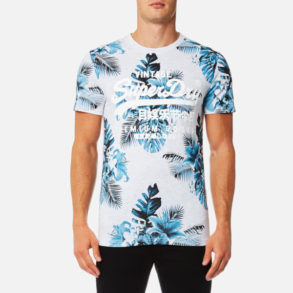 Superdry Men s Premium Goods All Over Print T-Shirt - Ice Marl  Image 1 45294f815183
