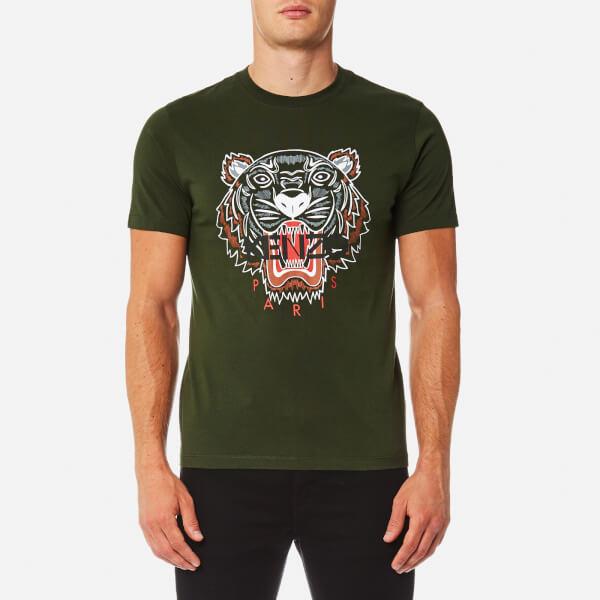 kenzo men 39 s tiger logo icon t shirt dark khaki free uk. Black Bedroom Furniture Sets. Home Design Ideas