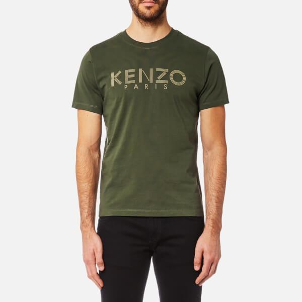 kenzo men 39 s kenzo paris t shirt dark khaki free uk. Black Bedroom Furniture Sets. Home Design Ideas