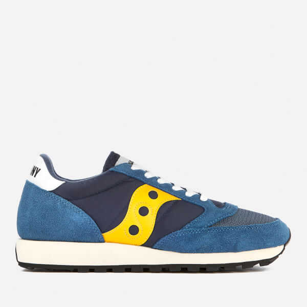 de4b9ba7c50b Saucony Men s Jazz Original Vintage Trainers - Blue Yellow  Image 1