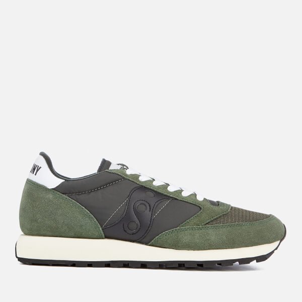 Saucony Men's Jazz Original Vintage Trainers - Dark Green/Black