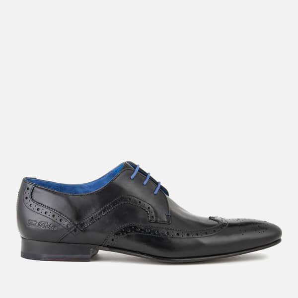 8d2b80eb07cce Ted Baker Men s Oakke Leather Brogue Derby Shoes - Black