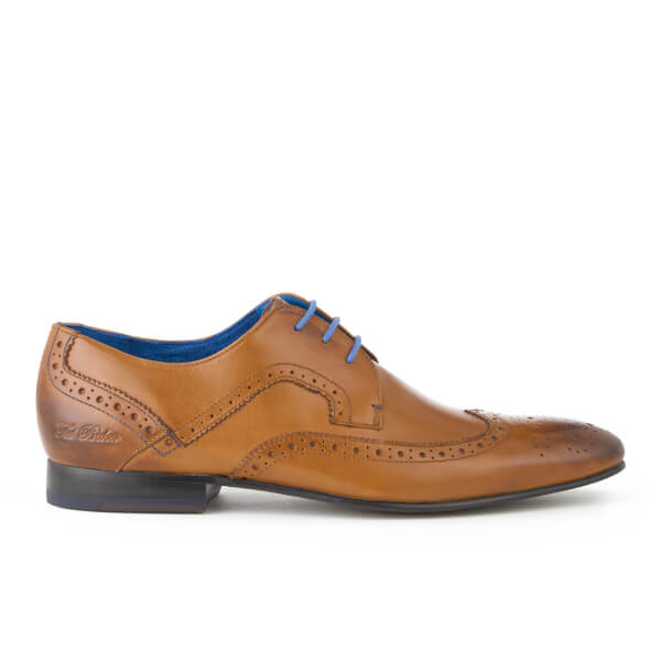 Ted Baker Men's Oakke Leather Brogue Derby Shoes - Tan