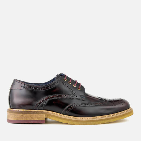 Ted Baker Men's Prycce High Shine Leather Brogues - Dark Red