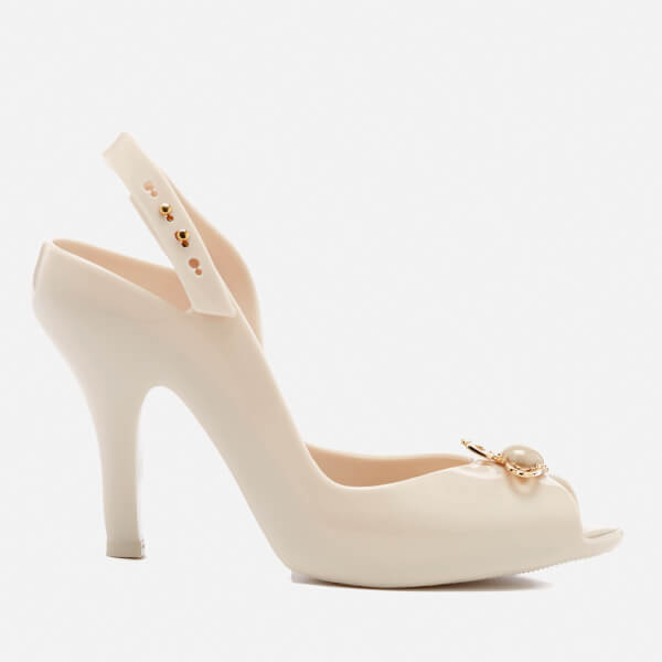 Vivienne Westwood for Melissa Women s Lady Dragon 18 Heeled Sandals - Ivory  Pearl Orb  Image