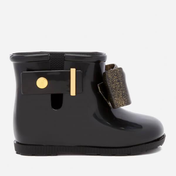 Mini Melissa Toddlers' Sugar Rain Bow 18 Boots - Black