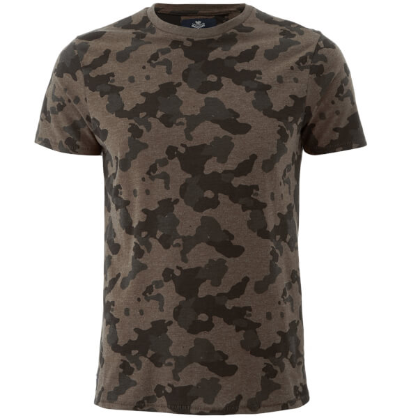 Threadbare Men's Felton Camo T-Shirt - Khaki