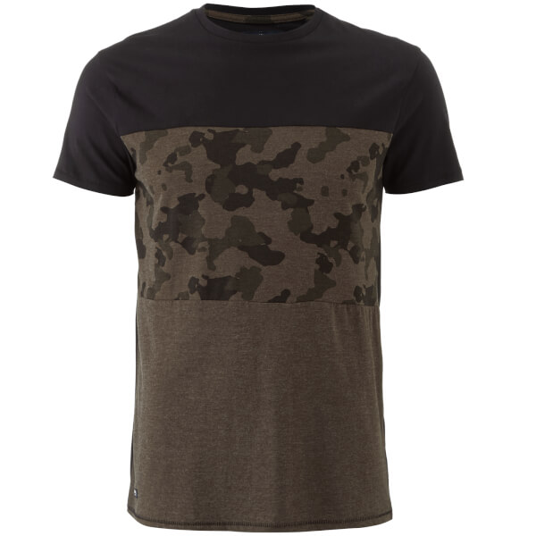 T-Shirt Homme Threadbare Independence Camouflage - Kaki