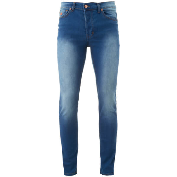 Threadbare Men's Ghost Denim Jeans - Mid Wash