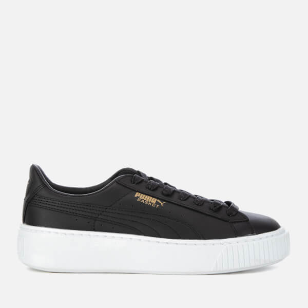 0daade14869 Puma Women s Basket Platform Core Trainers - Puma Black Gold  Image 1