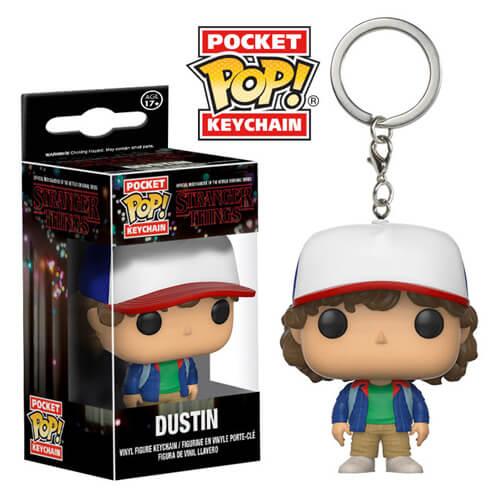Stranger Things Dustin Pocket Pop Vinyl Keychain Pop In