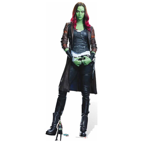 Guardians of the Galaxy Volume 2 Gamora Cardboard Cut Out - Life Size