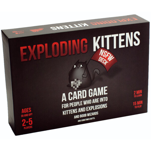 Exploding Kittens Card Game NSFW Edition
