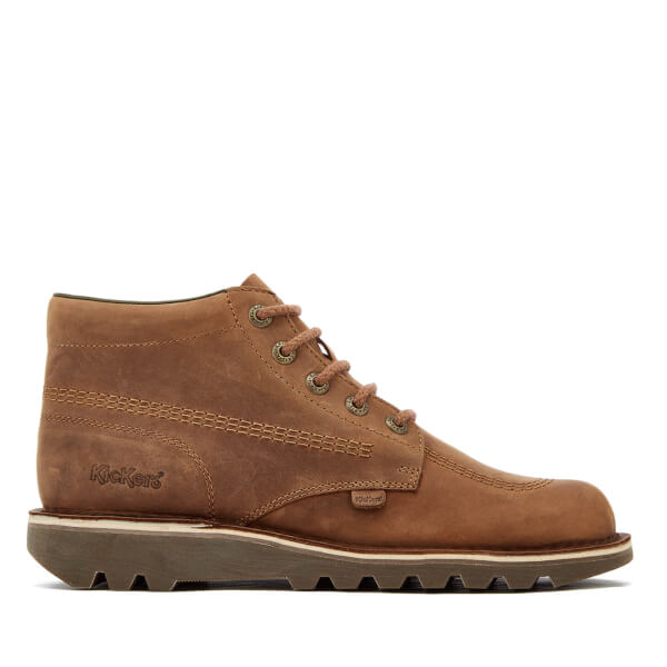 Kickers Men's Kick Hi Leather Boots - Brown