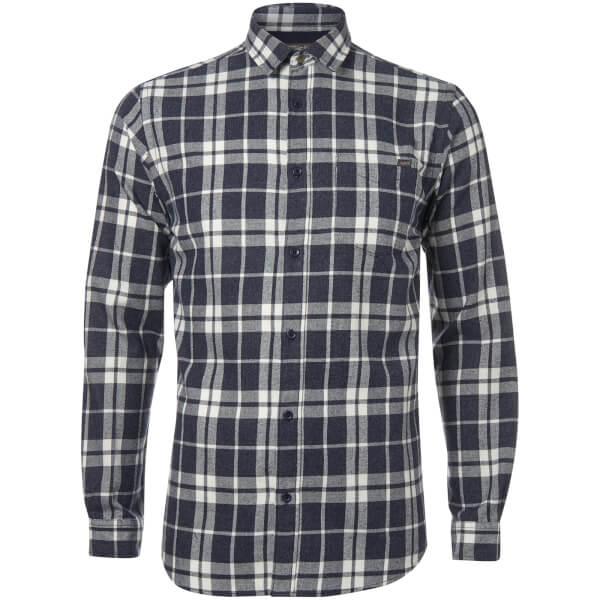 Jack & Jones Originals Men's Bravo Long Sleeve Check Shirt - Peacoat