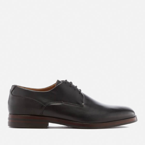 Hudson London Men's Enrico Leather Derby Shoes - Black