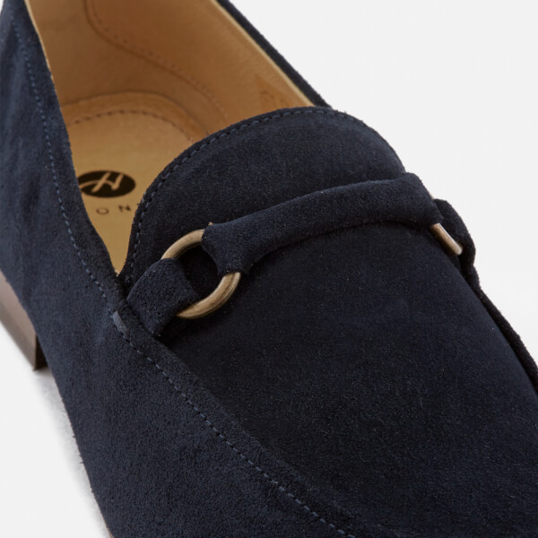 6f63c4007a9 Hudson London Men s Renzo Suede Loafers - Navy  Image 6