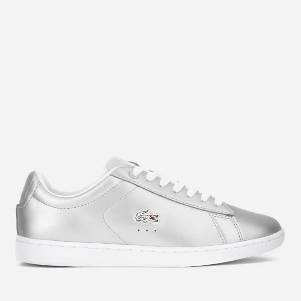 211470f46797d9 Lacoste Women s Carnaby Evo 117 3 Court Trainers - Light Grey  Image 1