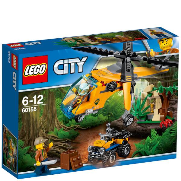LEGO City: L'hélicoptère cargo de la jungle (60158)
